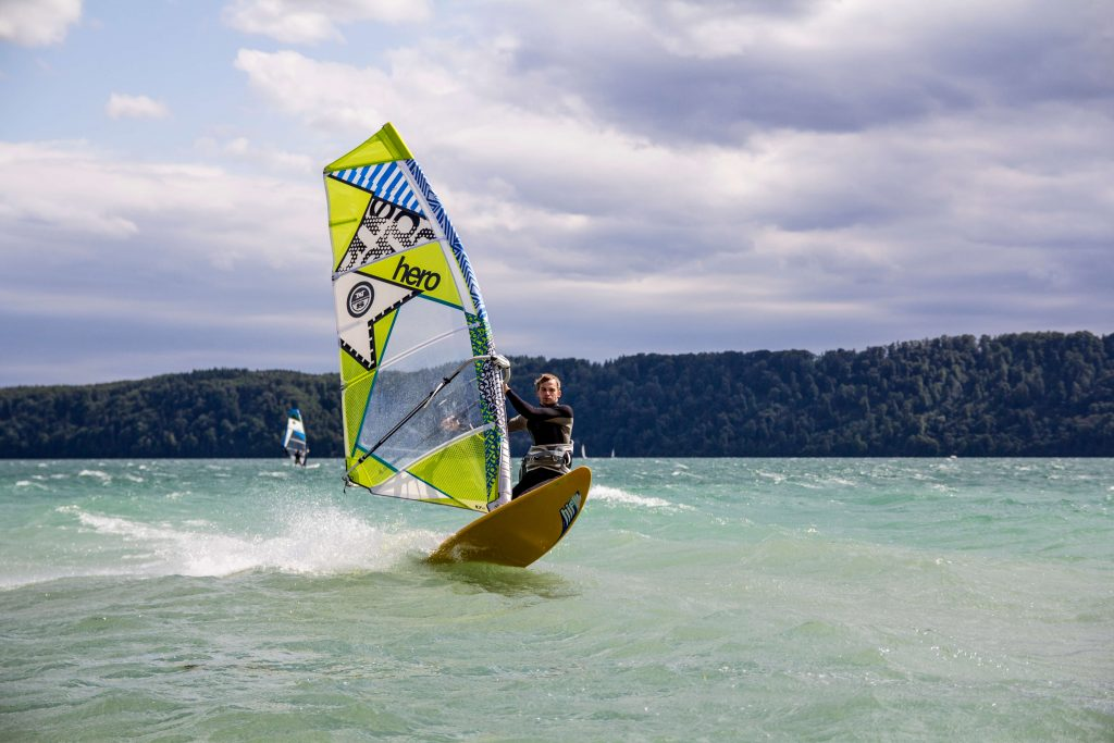Windsurfen in der Funsportarena